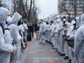 Нацкорпус митингует против карантина Рады