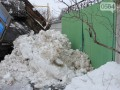 Активисты Кривого Рога отвезли 5 тонн снега под особняк мэра Вилкула