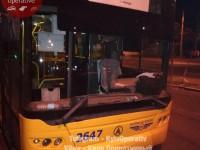 В Киеве обстреляли троллейбус