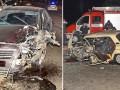 В Киеве врезались в лоб два авто, одного из водителей вырезали из салона