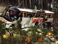 Туристический автобус потерпел аварию на немецком автобане