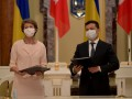 Президенты Украины и Швейцарии отправились на Донбасс