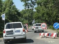 ОБСЕ: В Луганске грузовики с военной техникой