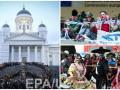 Неделя в фото: акция клоунов в Брюсселе, парад в Мехико и знак мира в Хельсинки