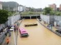 Десятки автомобилей пострадали от наводнения в Китае