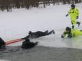 На Десенке под лет провалились рыбак и двое полицейских