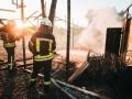 В Киеве пожар уничтожил трибуны волейбольного поля