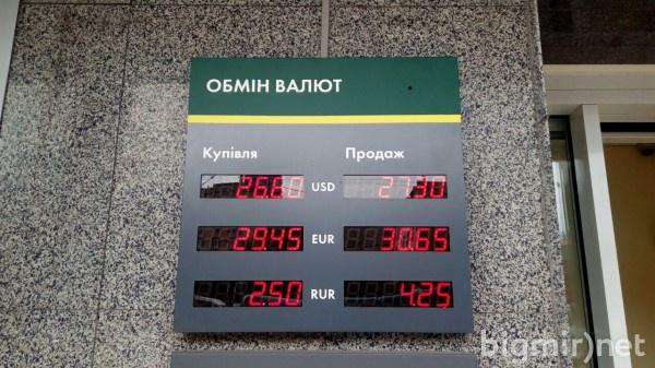 В обменниках доллар в среду, 5 июня, стоит по 27,30 грн