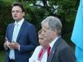 В Страсбурге Джемилев поднял флаг крымских татар