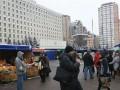 Стихийный рынок на площади Леси Украинки перед ЦИК демонтируют