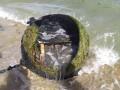 На пляже под Одессой из моря выловили огромную мину
