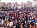 На Майдане проходит акция в поддержку Порошенко
