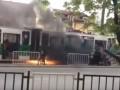 Во Львове на ходу загорелся отремонтированный трамвай с пассажирами