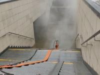 Подземный переход затопило кипятком: В Киеве порвало теплотрассу