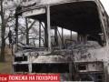 Под Житомиром по дороге на кладбище загорелся катафалк