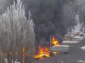 Страшное ДТП c фурой в Киеве: несколько авто загорелись