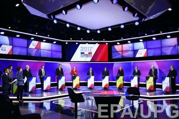 На дебатах выступили 11 кандидатов в президенты Франции