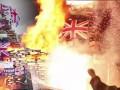 В Северной Ирландии публично сожгли Британские флаги