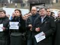 Порошенко и Яценюк приехали на Марш мира