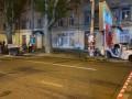 Показано видео с места разрушительной аварии в центре Одессы