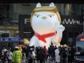 В китайском торговом центре поставили статую собаки, напоминающую Трампа