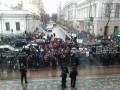 Педагоги митингуют под Радой против закона о техникумах