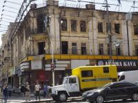 После пожара: что осталось от бывшего гастронома на Крещатике