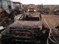 На Одесчине сгорели склады сена и кроссовер