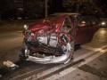 В Киеве таксист протаранил Skoda с пьяным водителем
