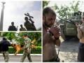 День в фото: Прощание с бойцом Айдара, донецкие боевики и тренировка кинологов