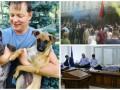 День в фото: Собаки Ляшко, митинг в Киеве и каталка в суде