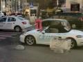 В Киеве блондинка изрубила топором элитный Porsche