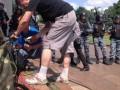 Трансляции пресс-конференции Януковича помешало повреждение демонстрантами кабеля