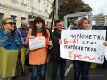 Зеленского в Житомире встретили сразу двумя митингами