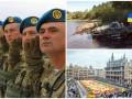 День в фото: Подготовка к военному параду, учения полицейского спецназа и цветочный ковер в Брюсселе