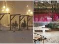 День в фото: красное озеро в Сумах, виселицы в Москве и потоп на Закарпатье