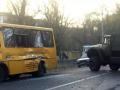 Грузовик боевиков протаранил маршрутку на Донбассе
