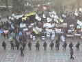 Митингующие и милиция снова столкнулись у здания Рады