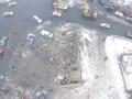 Последствия взрыва в Донецке сняли с беспилотника
