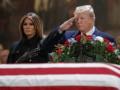 Трамп почтил память Буша-старшего