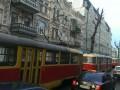На Подоле в Киеве остановилось движение трамваев