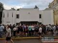 В Киеве возле здания МВС проходит акция