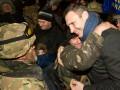 Кличко с киевлянами встретил бойцов из зоны АТО