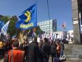 У здания Минсоцполитики протестуют против нового Трудового кодекса