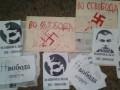 В Киеве офис Свободы обрисовали свастикой