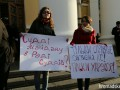 Гражданские активисты, адвокаты и вкладчики банков пикетируют съезд Совета судей в Киеве