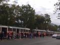 В Киеве водитель спровоцировал ДТП и парализовал движение трамваев