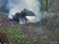 В Сербии истребитель МиГ-21 упал во дворе дома