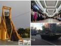 День в фото: Новая станция метро в Харькове, обрушившийся мост в Чили и танки на улицах Киева
