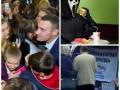 День в фото: Эвакуация в Макдональдсе, Кличко в университете и продукты от Единой России